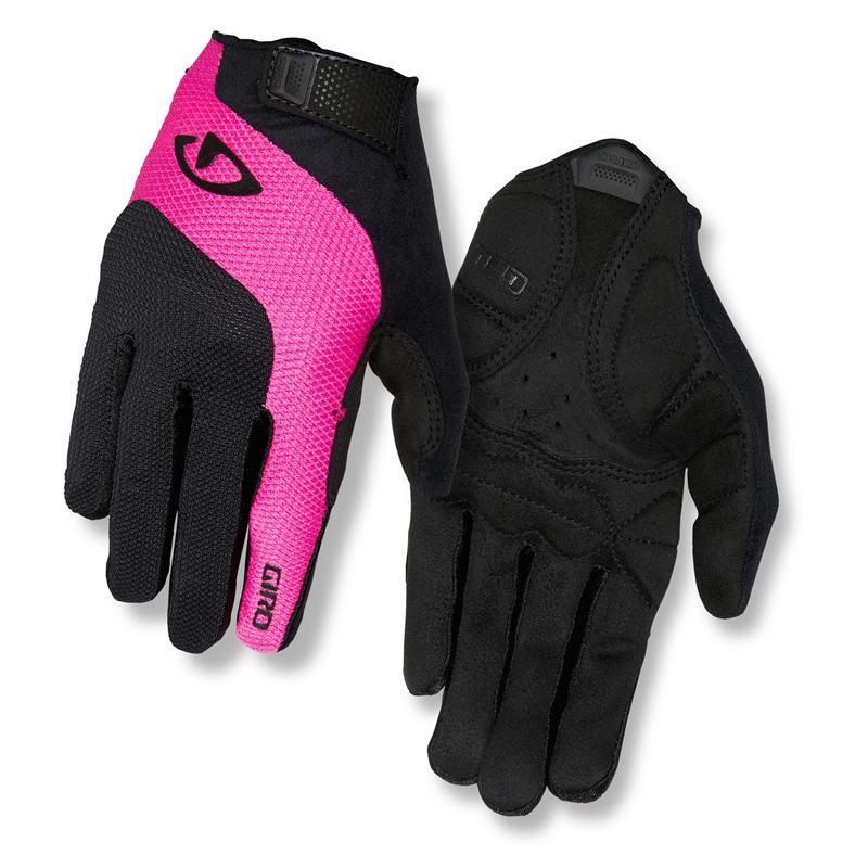 Rukavice Giro Tessa LF - černo-růžová, dlouhé, dámské - velikost M