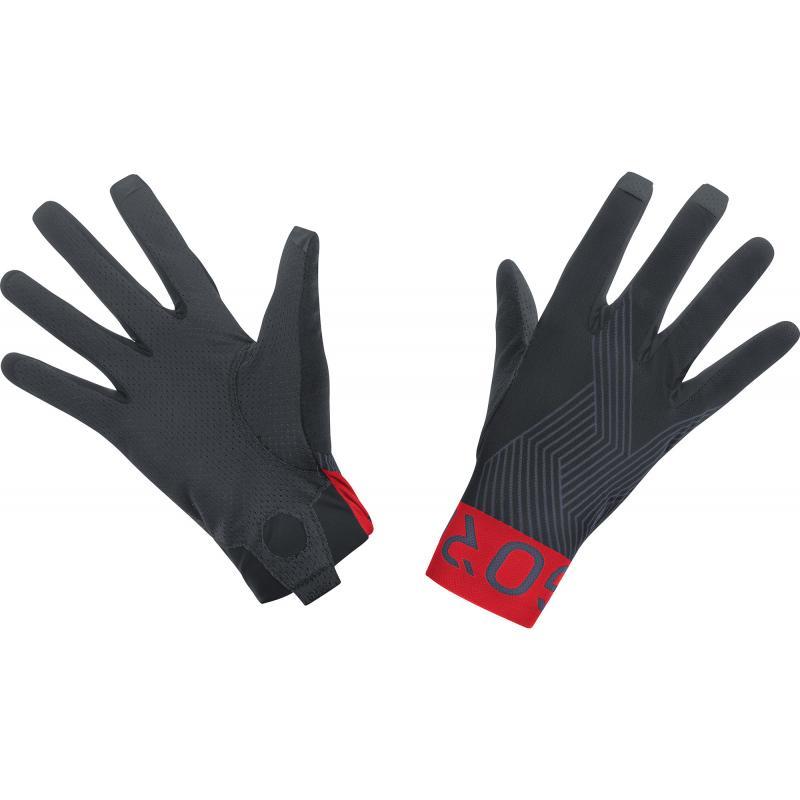 Rukavice Gore C7 Pro - dlouhé, černo-červená - velikost 10 (XXL)
