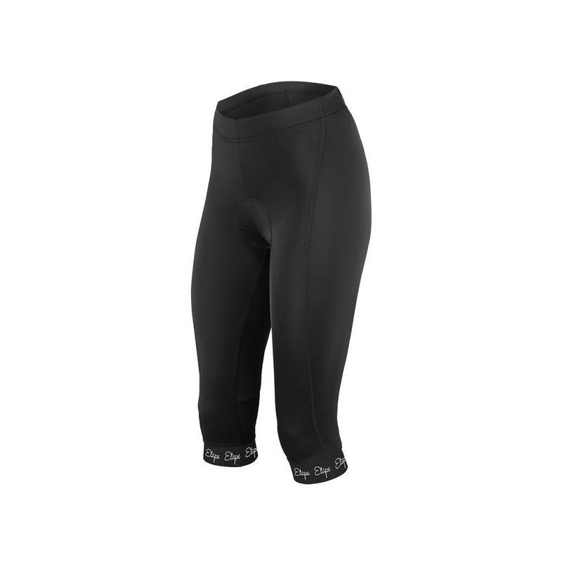 3/4 kalhoty Etape Natty - dámské, elastické, pas, s vložkou, černá - velikost L