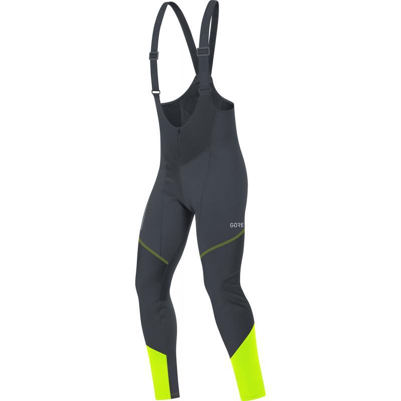 Kalhoty Gore C3 WS - pánské, elastické, lacl, černo-žlutá neon - Velikost L