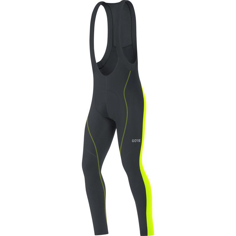 Kalhoty Gore C3 Thermo Plus - pánské, elastické, lacl, černo-žlutá neon - Velikost M