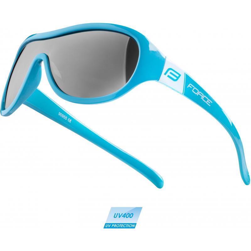 Brýle Force Pokey - dětské, modro-bílé, černá skla 90955